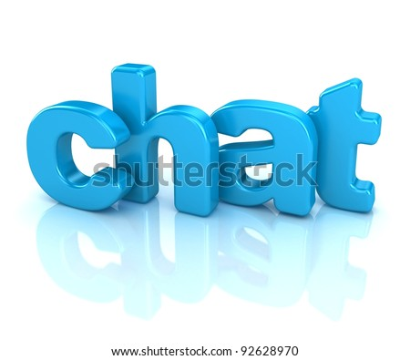 3d word chat on white background - stock photo