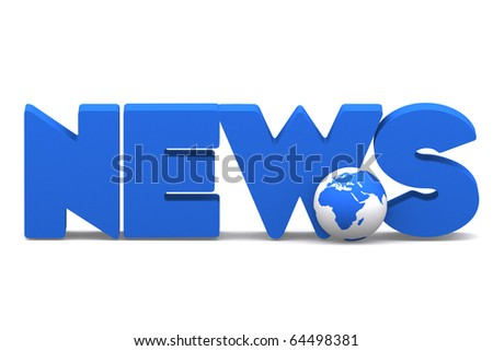 3d word NEWS with mini global