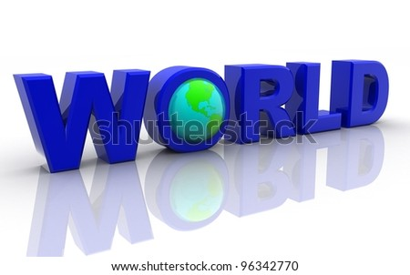 3D word World with globe