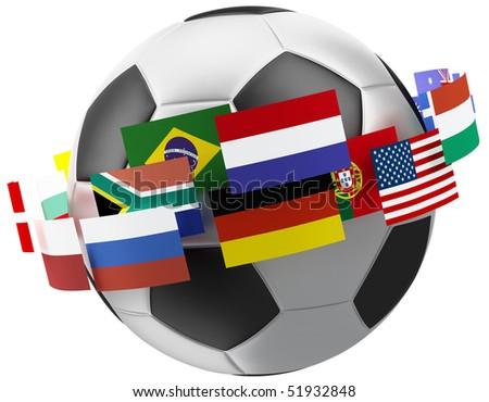3d world soccer ball.