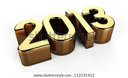 3D 2013 year golden text