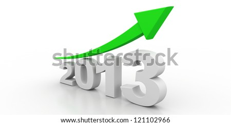3D 2013 year text - stock photo