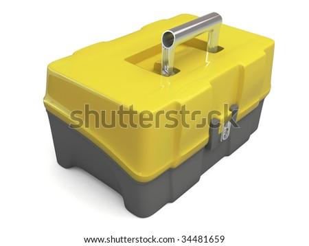 3d yellow black toolbox