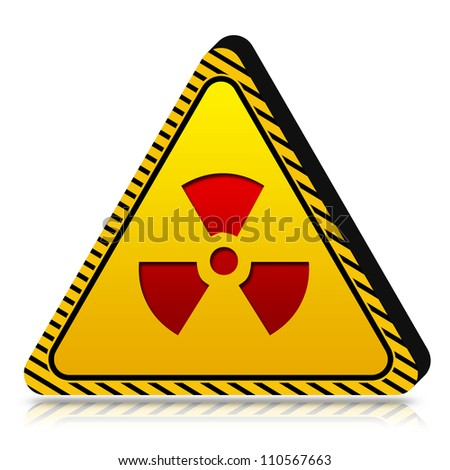 3d Yellow Triangle Under Caution or Dander Sign Isolated on White Background