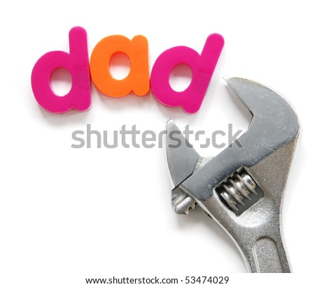 """dad"" with wrench for Father's Day"