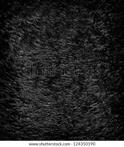 Dark artificial fur for texture or background