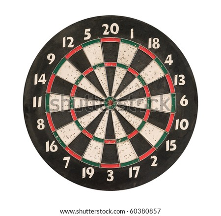 Dartboard  isolated on white background, clipping path.