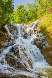 Datanla waterfall. It is located 5 km away from the city center.