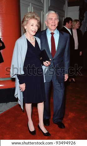 "05DEC99: Actor KIRK DOUGLAS & wife ANNE at the Los Angeles premiere of his new movie ""Diamonds"" in which he stars with Jenny McCarthy.  Paul Smith / Featureflash"