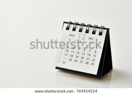 2018 December calendar #769454524