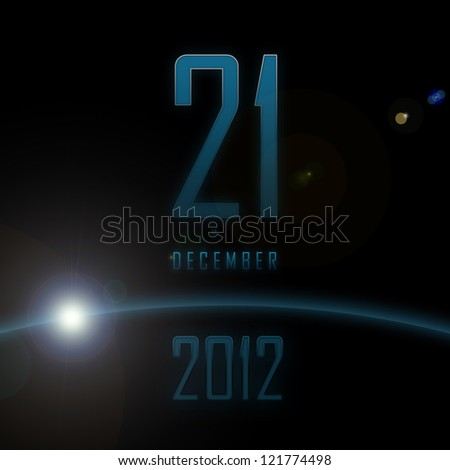 21 December 2012. End of the world. Apocalypse now. - stock photo