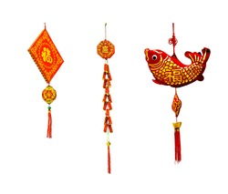 Decoration item on the tree branch for celebrating Lunar New Year. It's also called Tet holidays in Vietnam.