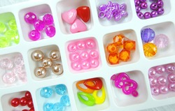 decorative elements, beads for children's creativity, for embroidery, making bracelets and other jewelry