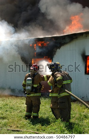"""""""Defensive Fire Operations"""" Douglas County Fire District #2 Burn to Learn, Hwy 99S, near Roseburg OR"""