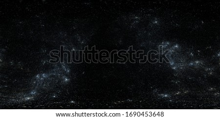 360 degree high detailed space background with stars. Panorama, environment 360° HDRI map. Equirectangular projection, spherical panorama. 3d rendering