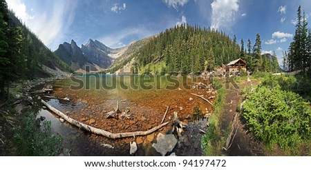 180 degree, Lake Agnes, Near Lake Louise, Banff National Park, Alberta, Canada