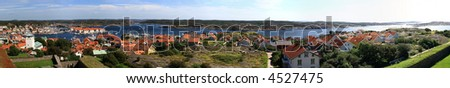 180 degree panorama made with 50mm prime from Marstrand castle, Sweden