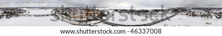 360-degree panoramic photo of Vyborg, Russia, near Russia-Finland border