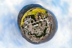 360 degree photography of The Sefid Chah Cemetery (historical cemetery related to the Timurid period in northern Iran)