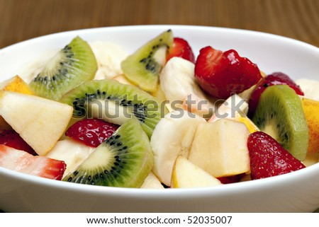 Delicious fresh fruit salad