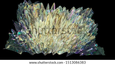 Design produced from the combining of Specialist Macro and 3D rendering Photography of Rocks, Minerals , Fossils and other natural materials, producing these stunning Images for use as Wallpaper, Bac