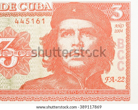 Shutterstock  Detail of Che Guevara on a Vintage 3 Pesos banknote from Cuba vintage