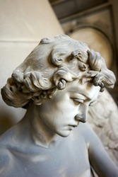 Details of the monumental cemetery of Staglieno in Genoa Italy