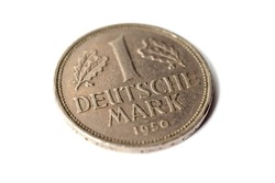1 Deutsche Mark isolated on white background