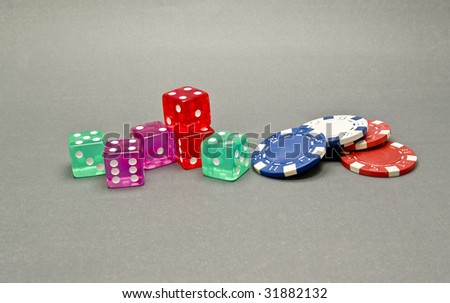 dice and casino chips #31882132