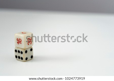 Stock Photo 2 Dice on the white background