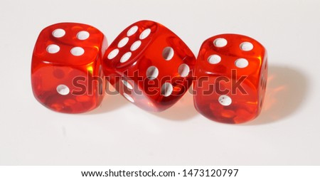 3 Dice on white Background                                #1473120797