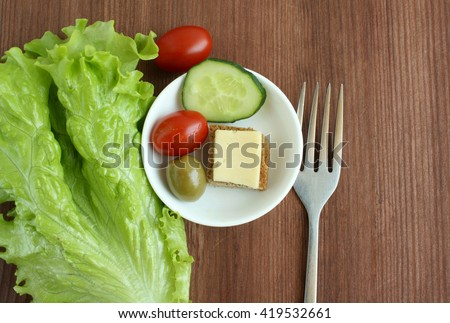 Diet concept - small portion