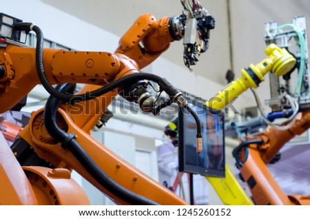 Different industrial robot arms.