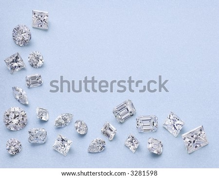 21 Different Shaped Diamonds as a border
