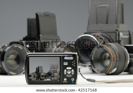 digital and  medium format camera