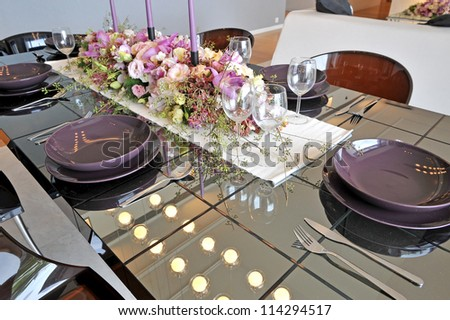 dining room table with decoration