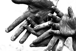 Dirty hands of poorness