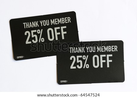 25% Discount Coupons for Member