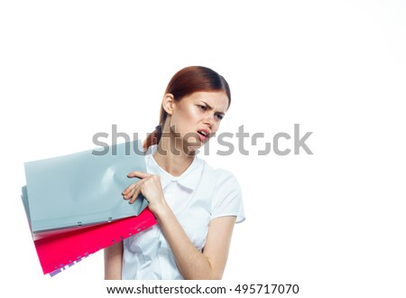 distraught young woman. Dismissal.