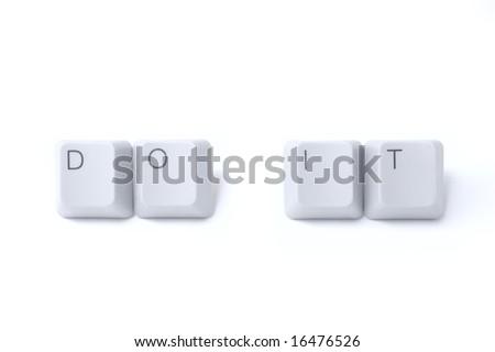 """Do it"" words written by isolated computer keyboard keys"