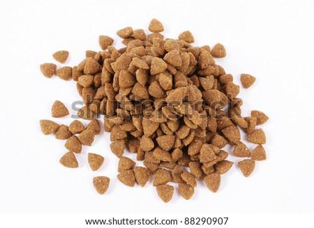 Dog food isolated on white background
