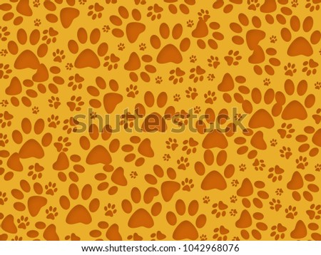 Dog Paw Print Background