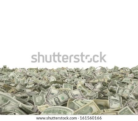 1,5,10,20,50,100 dollar bills on the ground