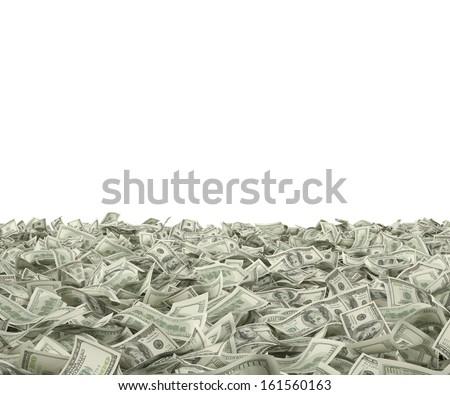 100 dollars on the ground