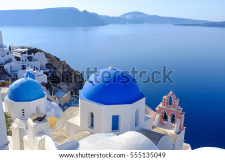 3 DOMES, OIA, SANTORINI, GREECE