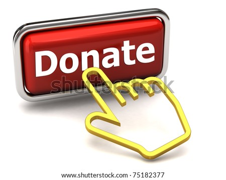 Donate button and hand cursor