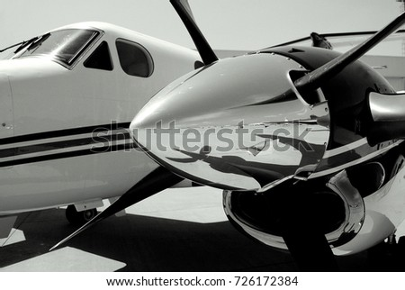 Double Propeller Airplane