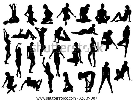 stock photo : drawing the female body in various poses