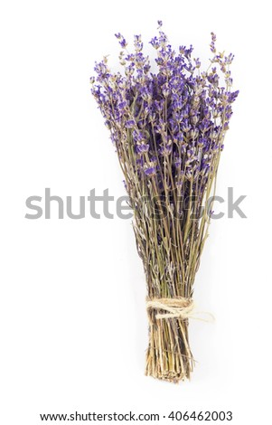 Stock Photo  Dried lavender isolated on a white background