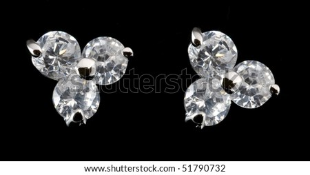 earring with diamond
